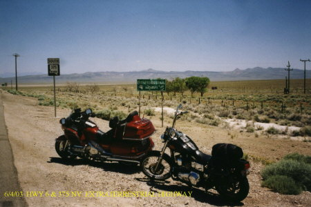 Highway 6 and 375 NV South ....Extraterrestrial Highway